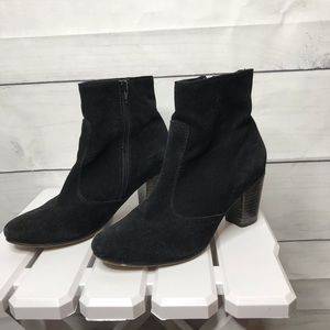 Seychelles black suede leather heeled ankle boots